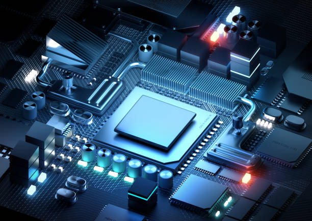 Microprocessor And CPU Technology Concept stock photo