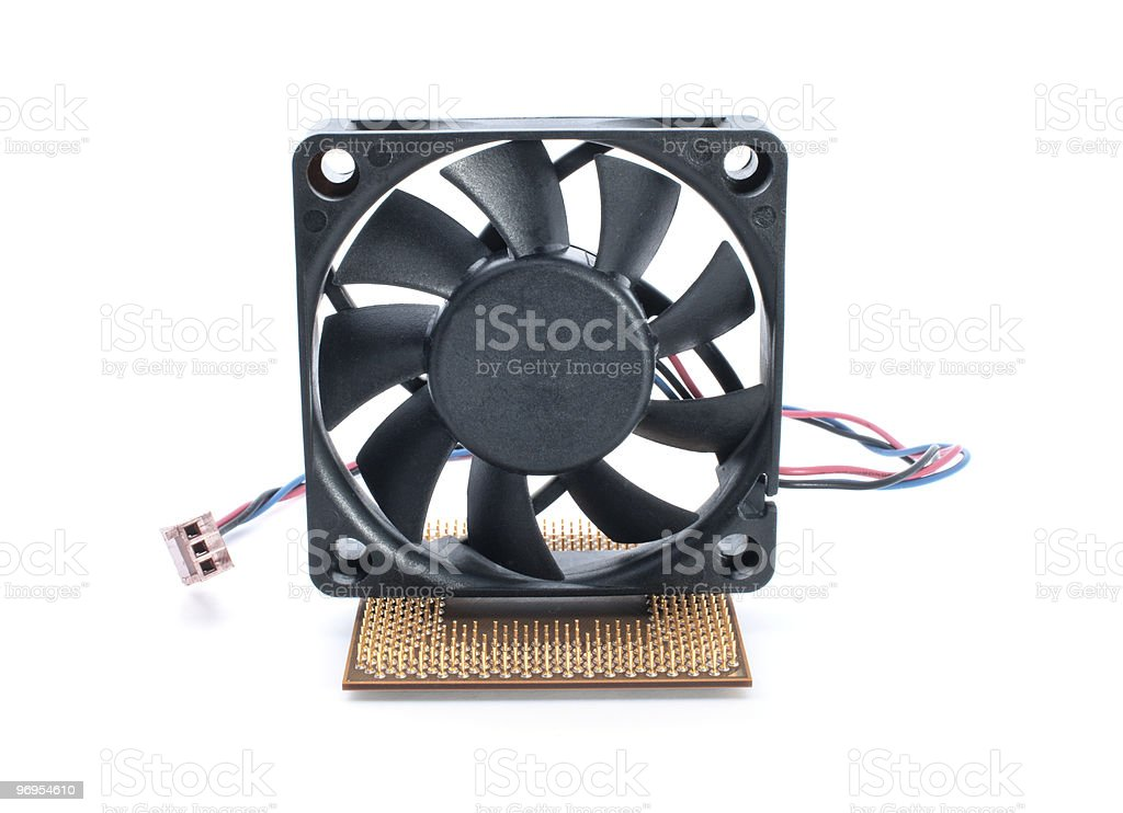 Microprocessor and fan royalty-free stock photo