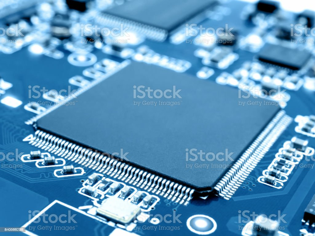 Microprocessor On Electronic Circuit Board Stock Photo 840566238 Computer With Electronics Components Royalty Free Desktop Pc Engineer Equipment Thailand