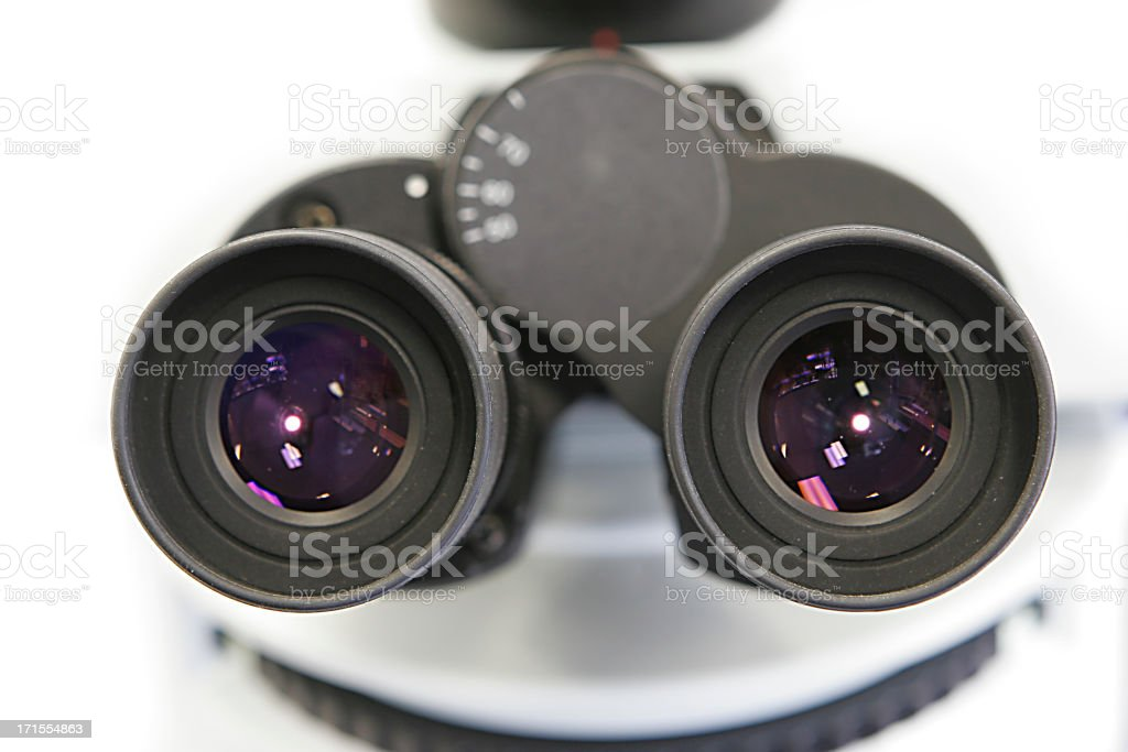 Microscope eyepiece royalty-free stock photo