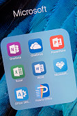 Microsoft  apps on Apple iPhone 6S Plus Screen