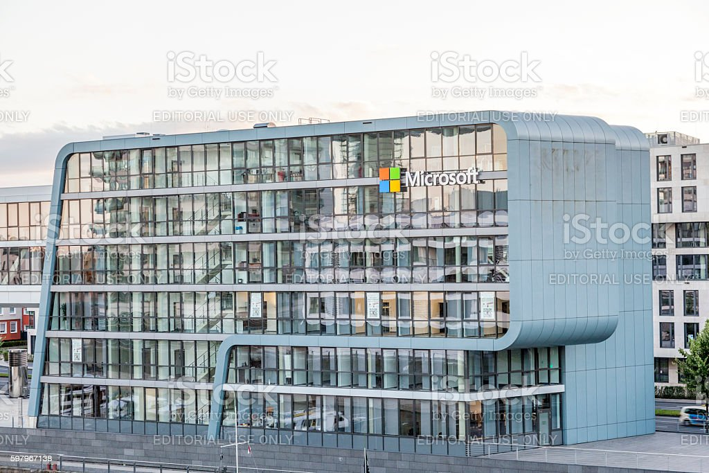 Microsoft Building in Cologne, Germany stock photo