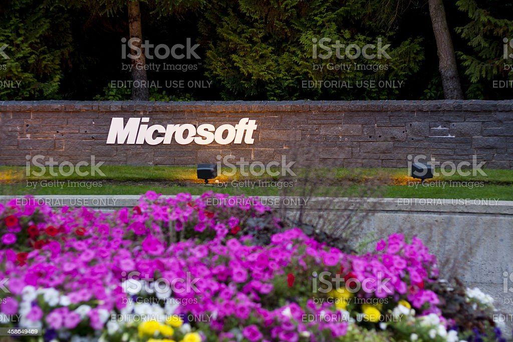 Microsoft Entrance Sign royalty-free stock photo
