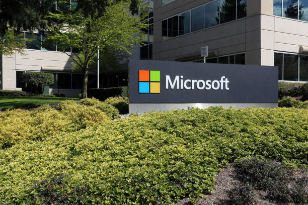 microsoft headquarters - microsoft windows stock-fotos und bilder