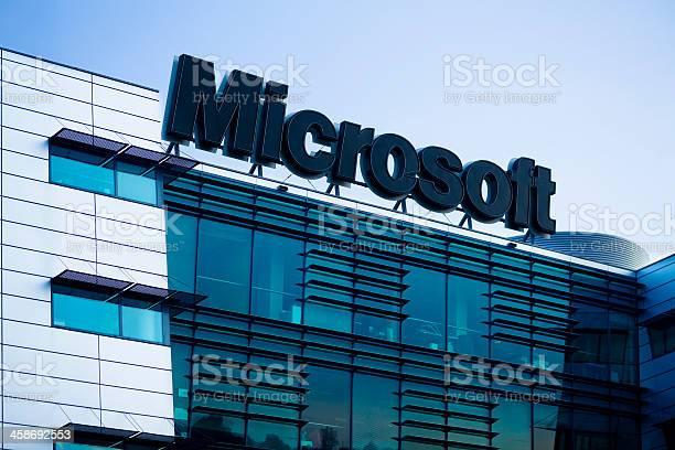 Microsoft Logo Stock Photo - Download Image Now