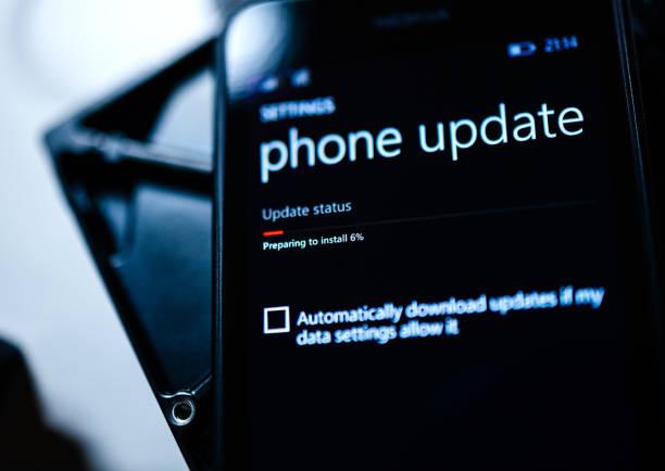 microsoft nokia lumia smartphone telefon - microsoft windows stock-fotos und bilder