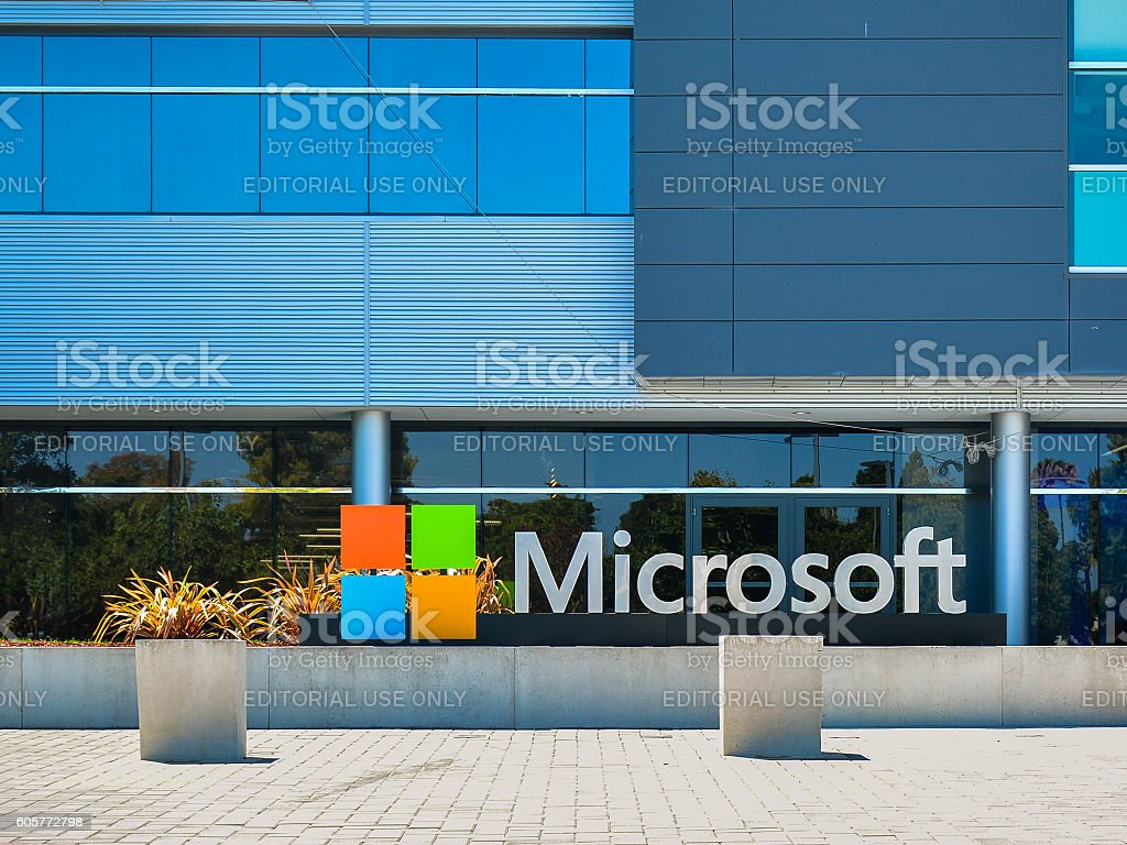 Microsoft Silicon Valley Center - Mountain View, CA - Foto stock royalty-free di Big Tech