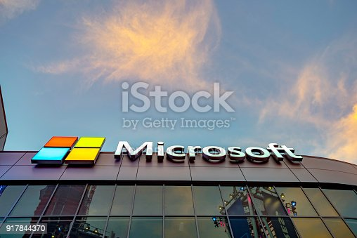 Los Angeles, California USA - February 11, 2018. Buildings at Microsoft Square in downtown Los Angeles USA. It is part of L.A. Live complex and Microsoft theater offer live concert and award venue. Many famous restaurants are located in this square.