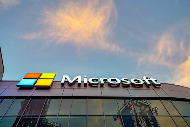 Microsoft Square in Downtown Los Angeles stock photo