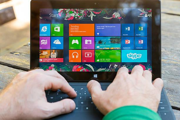 Microsoft Surface Pro stock photo