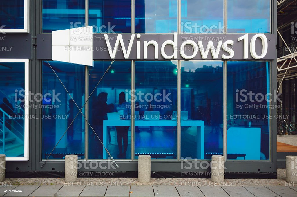 Microsoft Windows 10 il pavilion foto stock royalty-free
