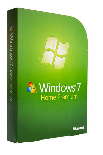 microsoft windows 7 home premium - microsoft windows stock-fotos und bilder