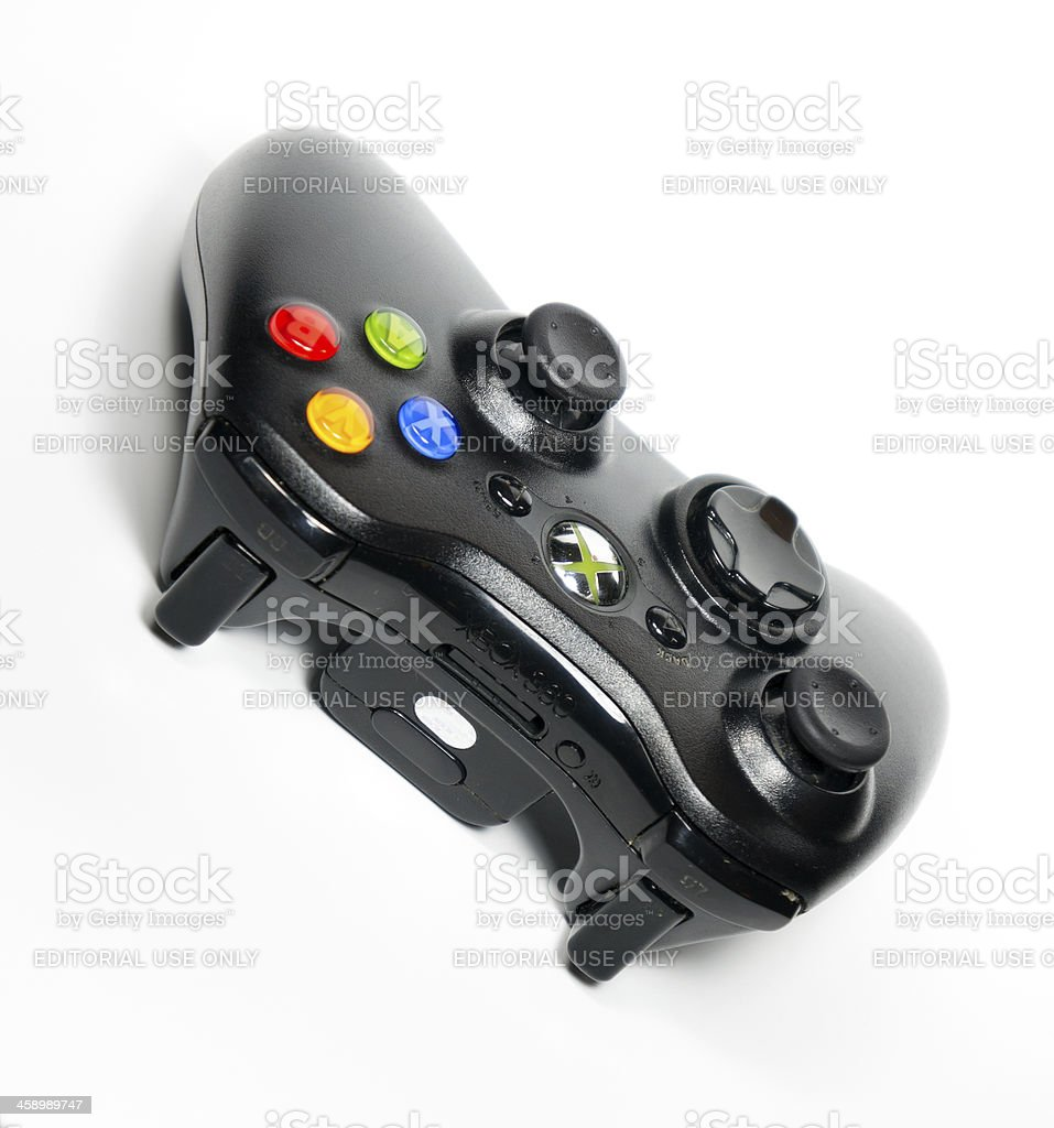 Microsoft Xbox 360 Controller Isolated on White royalty-free stock photo