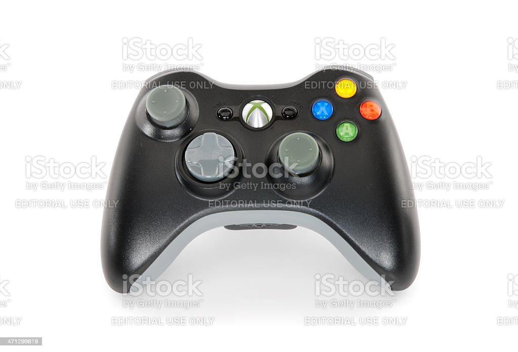 Microsoft Xbox 360 Controller Isolated on White stock photo