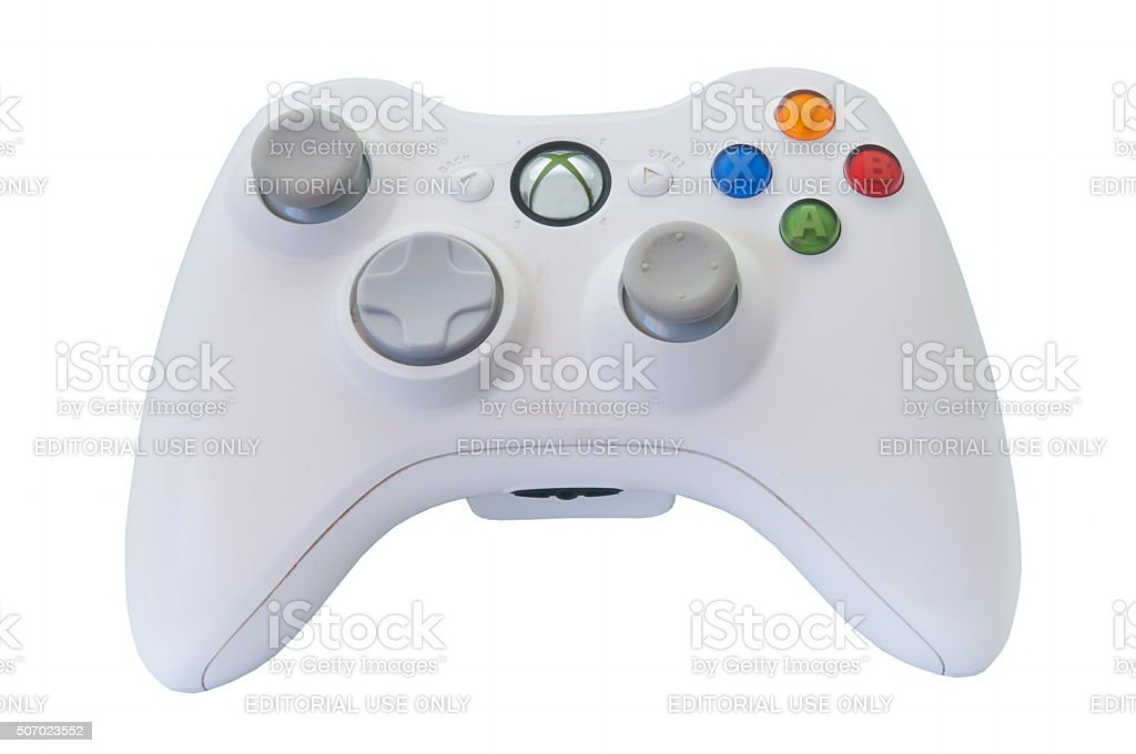 Microsoft Xbox 360 Controller stock photo