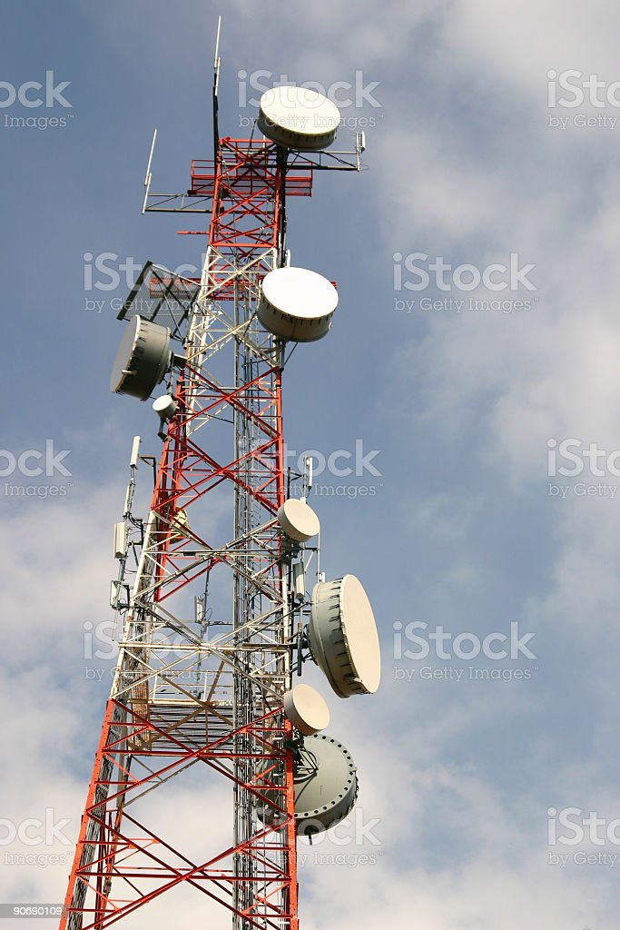 Microwave Communication Structure royalty-free stock photo