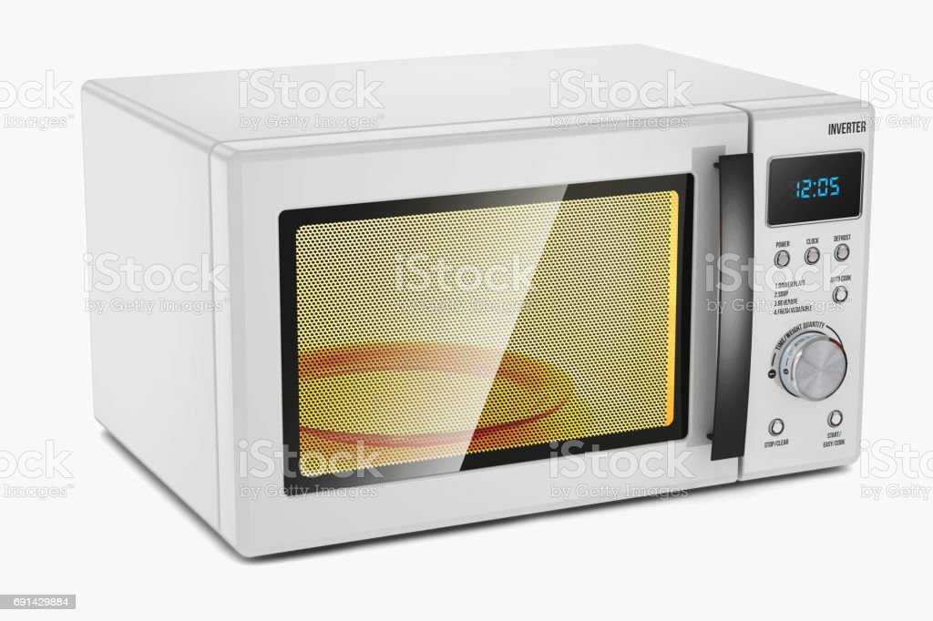 Microwave oven. Household appliance. stock photo