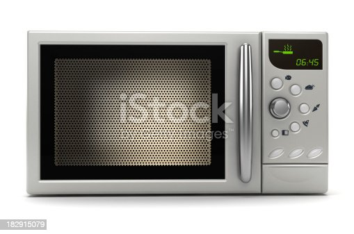 Microwave oven isolated on white. Precise clipping path included.Similar images: