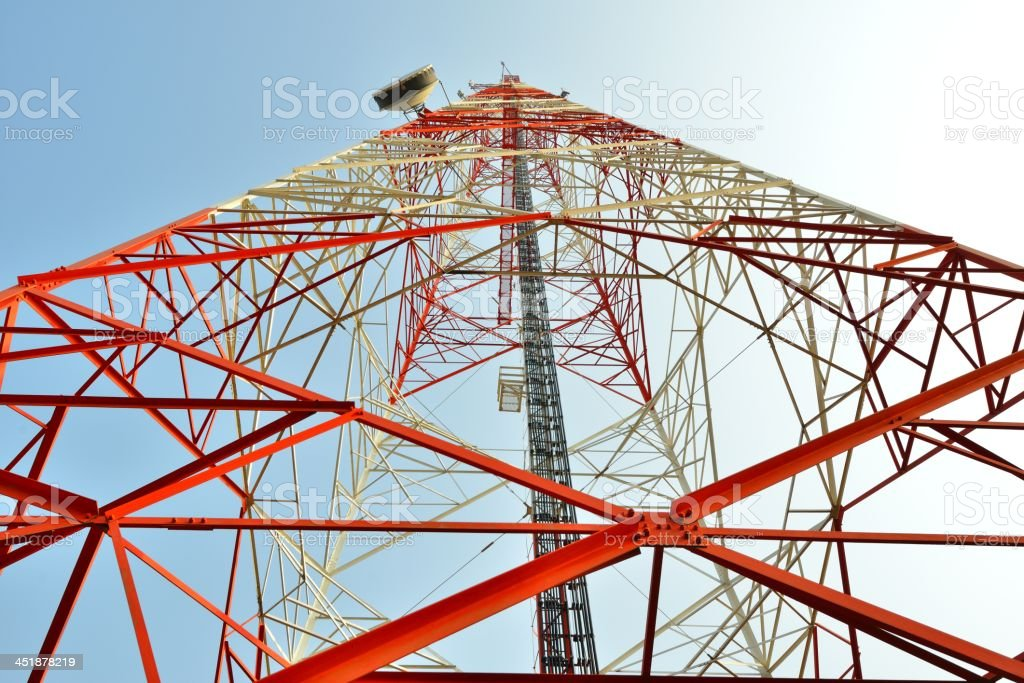 Microwave tower royalty-free stock photo