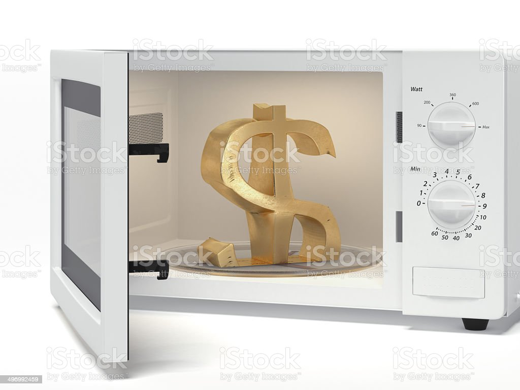 microwave with dollar sign royalty-free stock photo