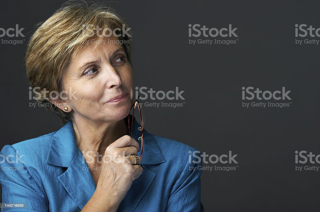 Mid adult businesswoman stock photo