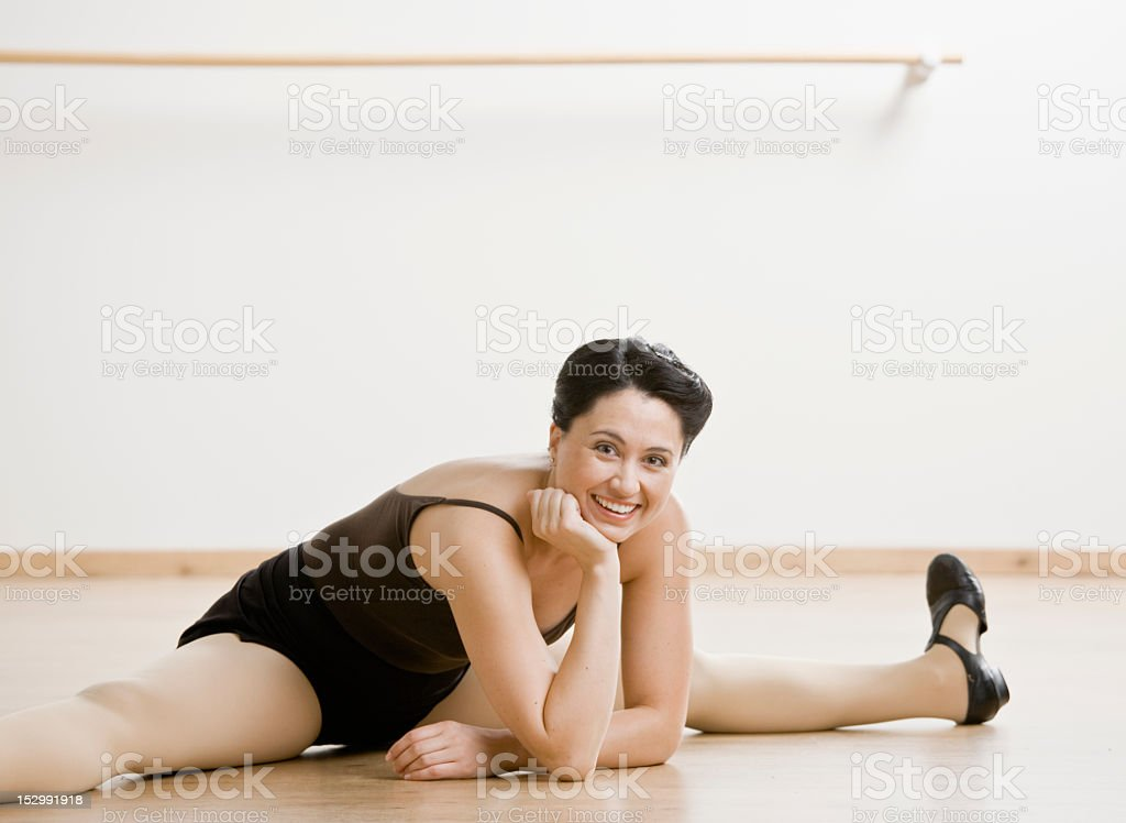 Mid Adult Female Dancer royalty-free stock photo