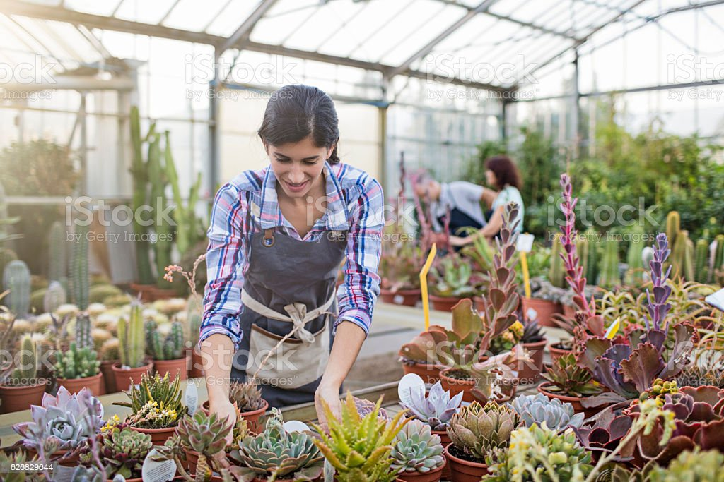 Woman Greenhouse