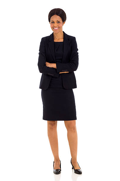 mid age african businesswoman stock photo