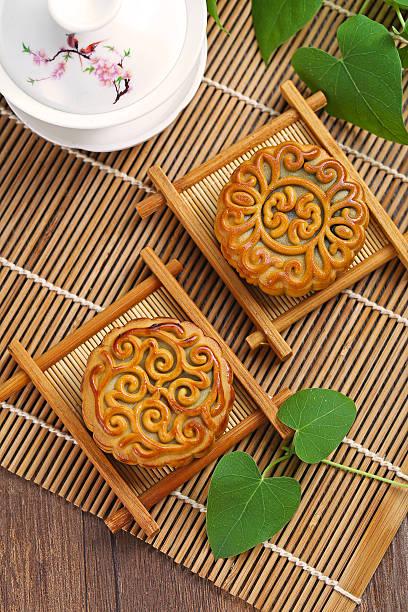 Mid Autumn Festival moon cake stock photo