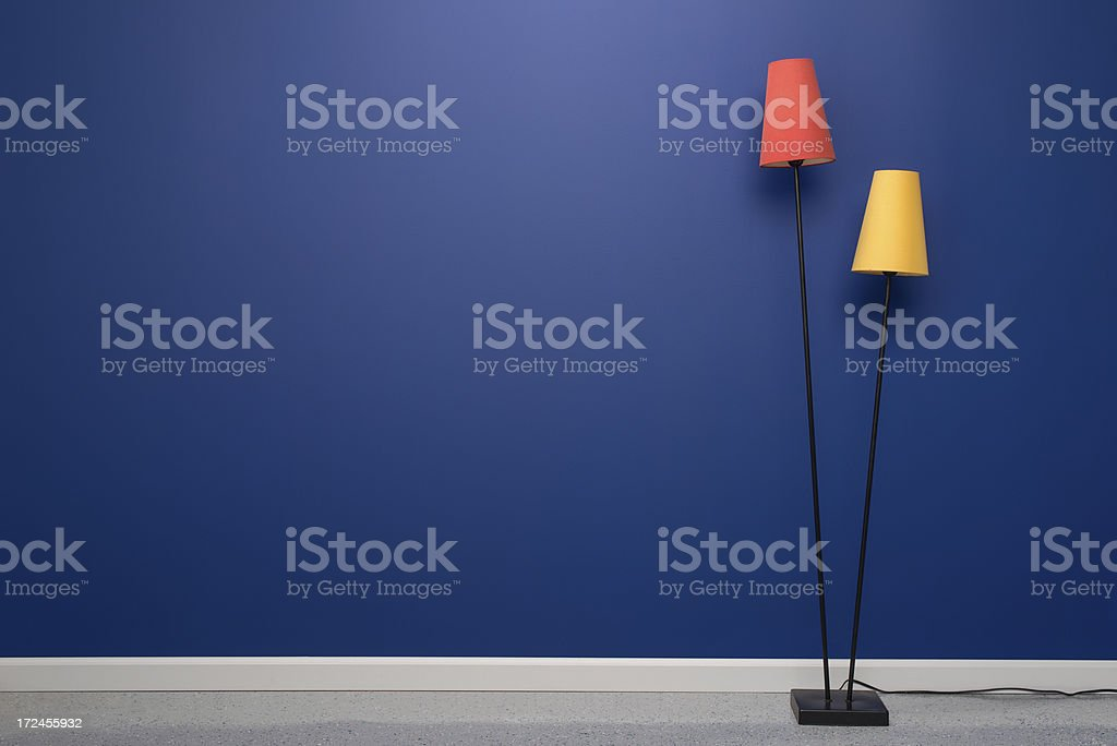 Mid Century Modern Floor Lamp stock photo