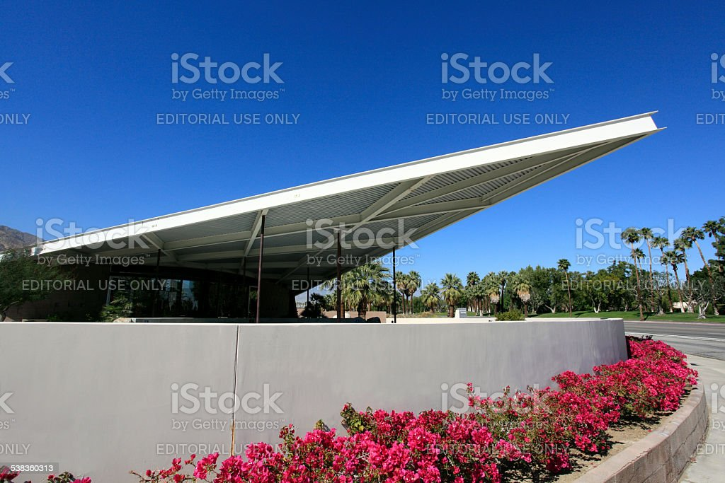 Mid Century Modern Palm Springs Visitor Center stock photo