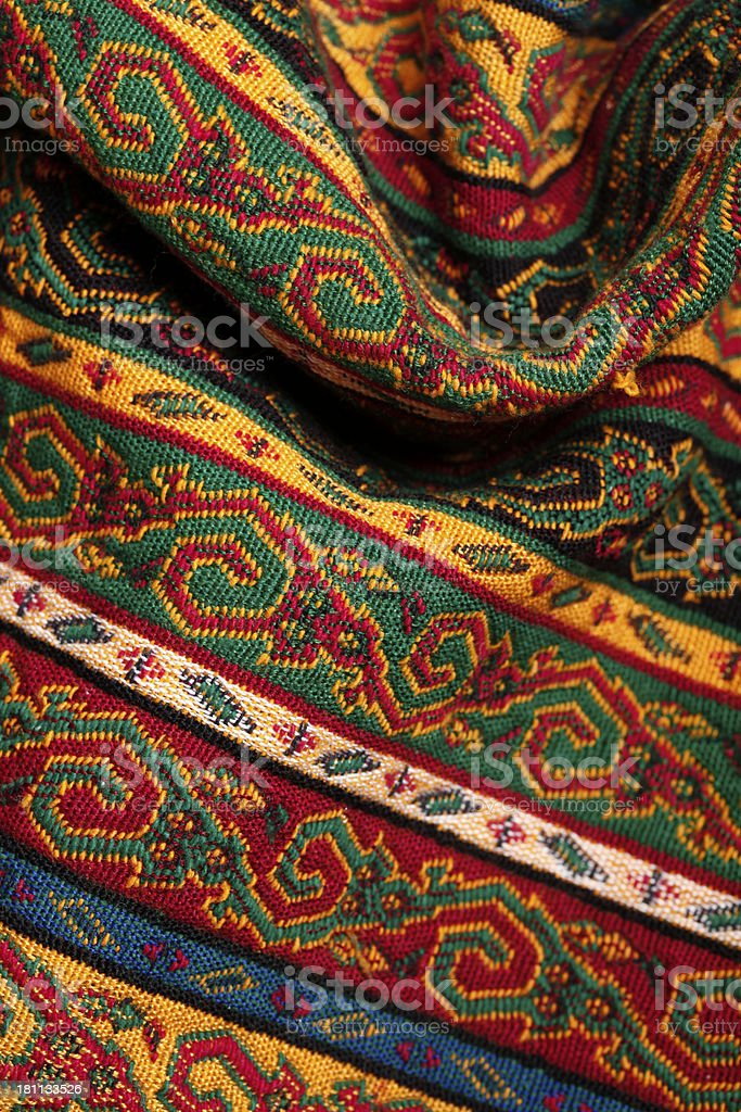 Mid East Pattern Shawl royalty-free stock photo