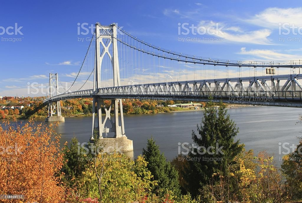 Mid Hudson Bridge stock photo