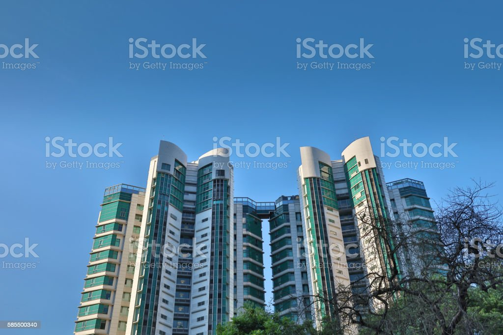 mid level of hong kong 2016 stock photo