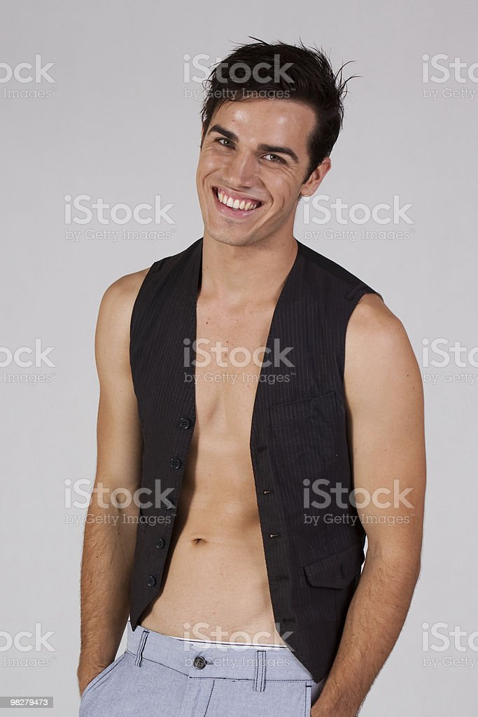 Mid shot of an attractive young male royalty-free stock photo