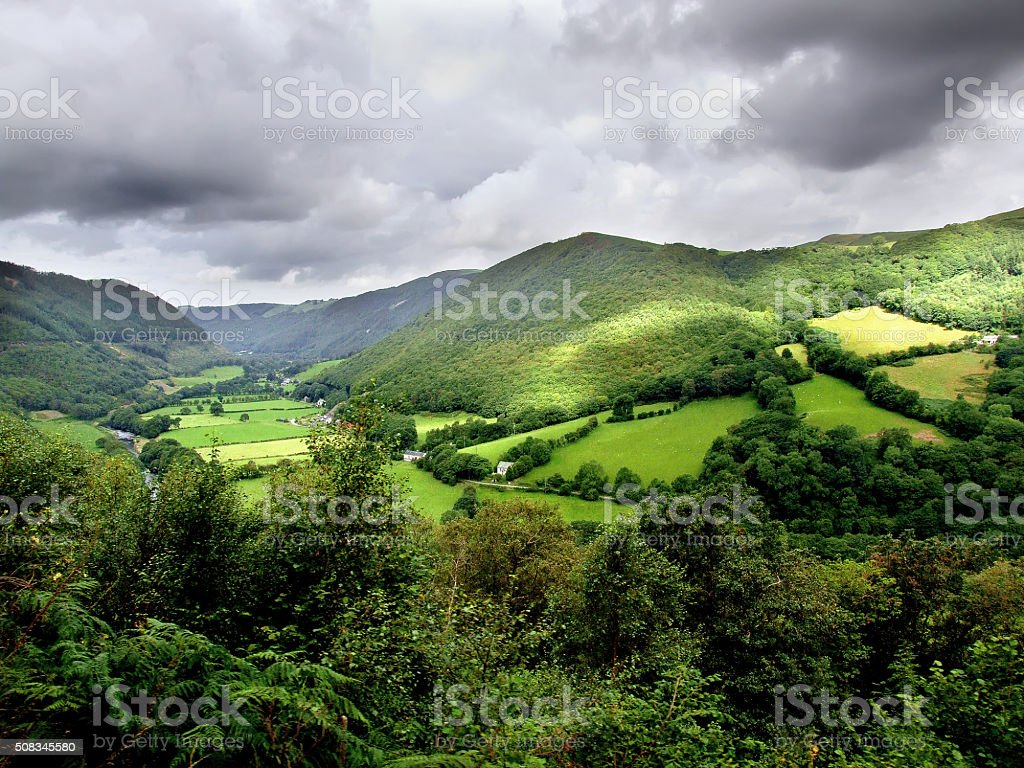 Mid Wales Landscape stock photo