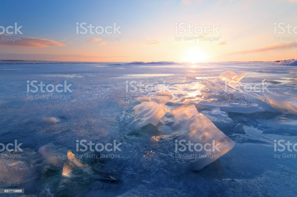 mid winter dawn stock photo