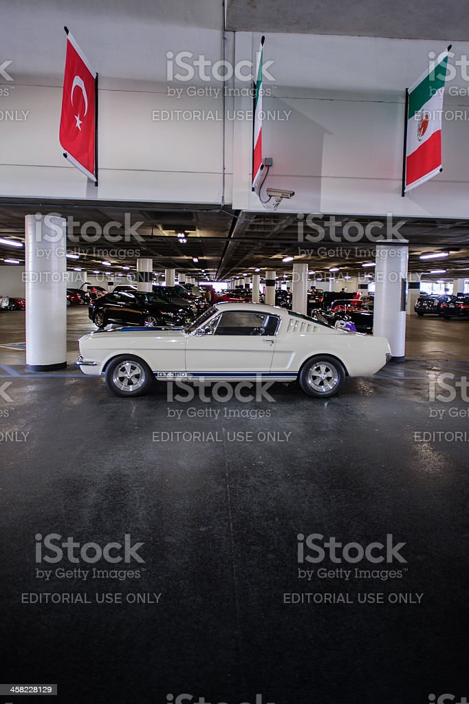 Mid-1960s Shelby Mustang G.T. 350 stock photo