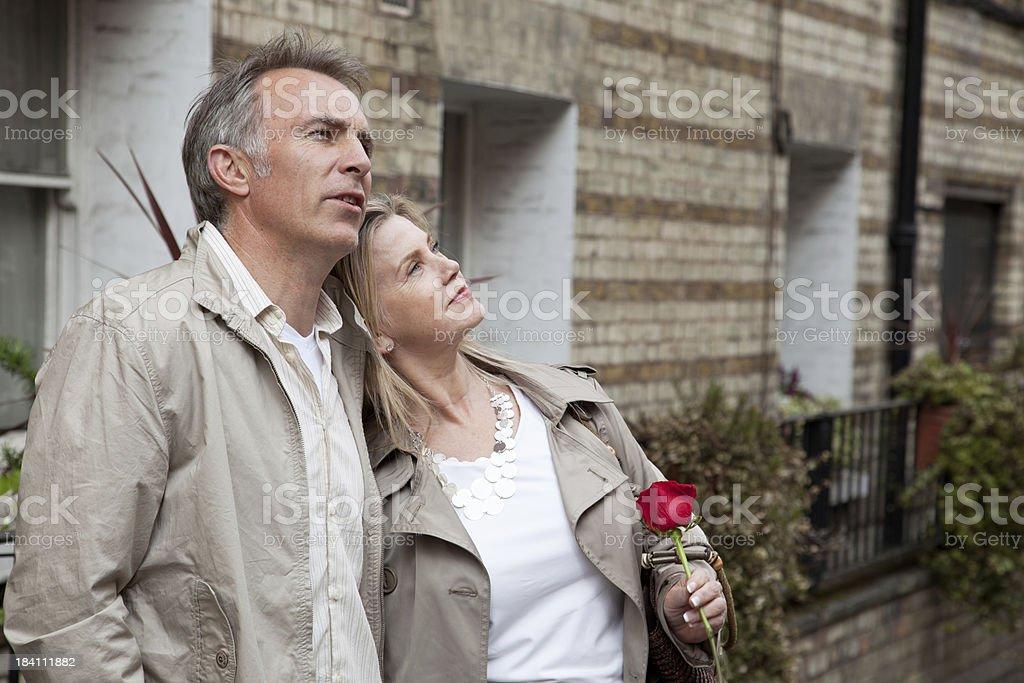 Mid-aged romantic couple stock photo
