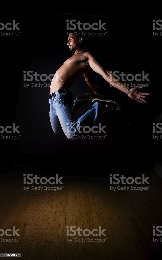 Mid-air royalty-free stock photo