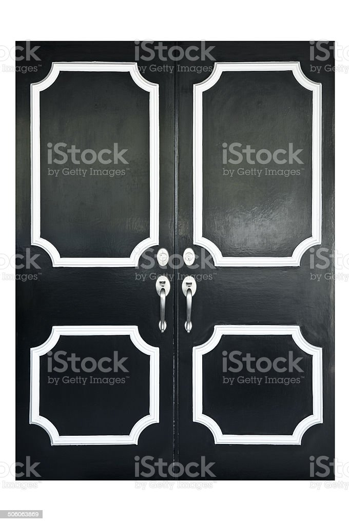 Mid-Century Moder Front Door stock photo