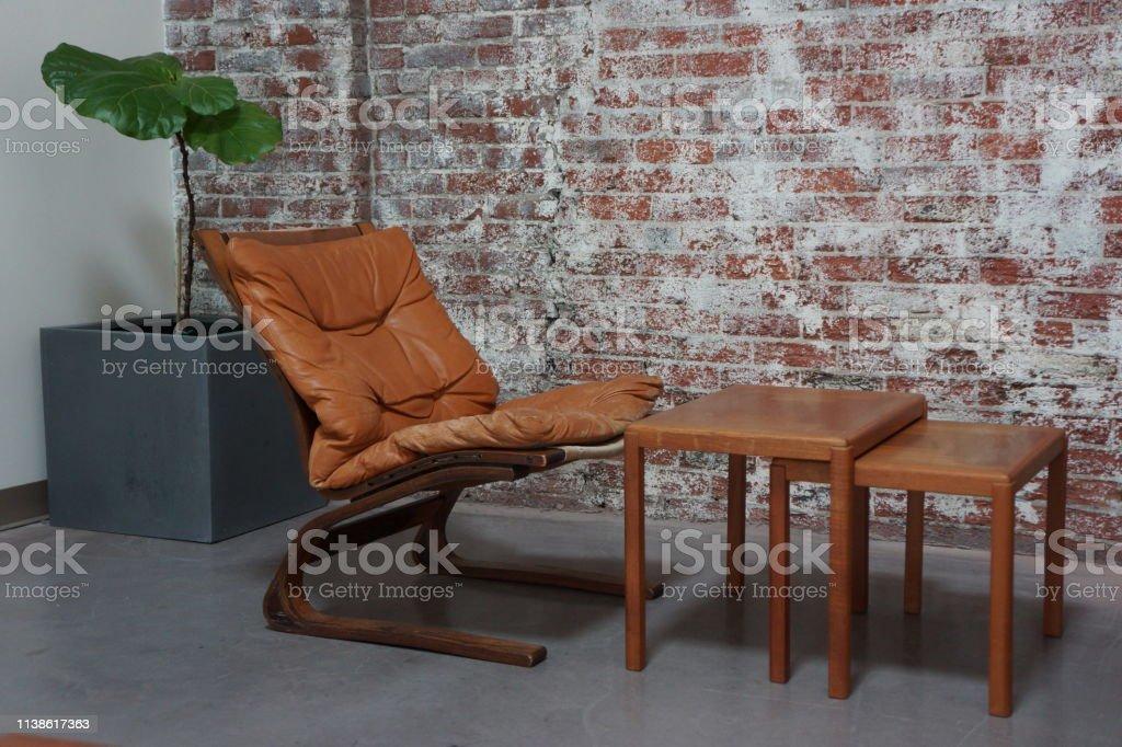 Mid-Century Modern Furniture stock photo