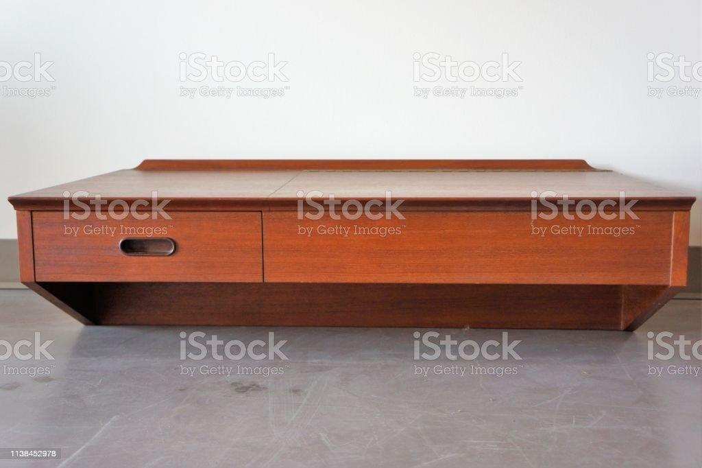 Mid-Century Modern Table stock photo