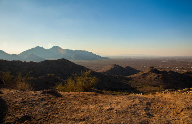 Midday Desert Valley stock photo
