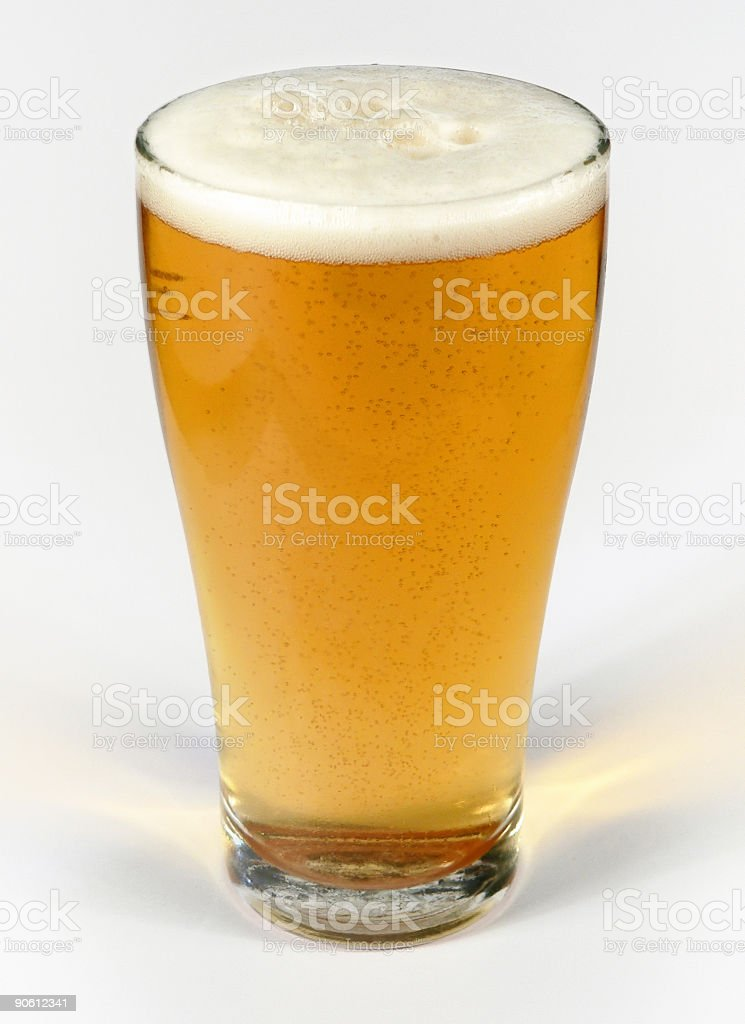 Middie Glass with frothy beer from Australia royalty-free stock photo