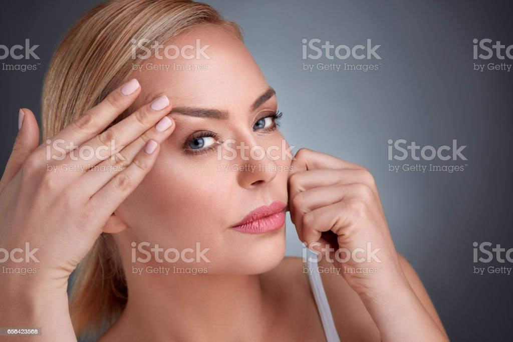 middle age and aging stock photo