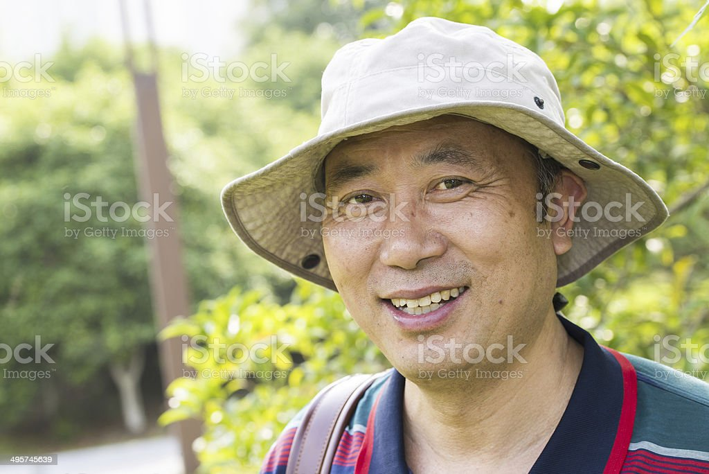 Middle age asian man stock photo
