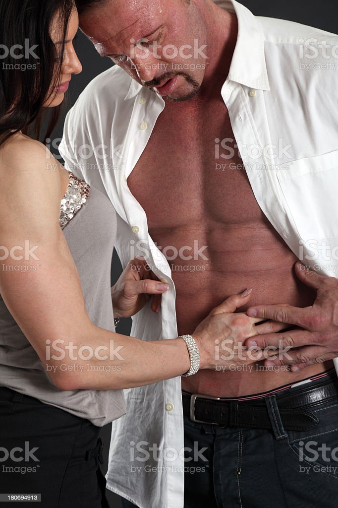 Middle age couple in love royalty-free stock photo