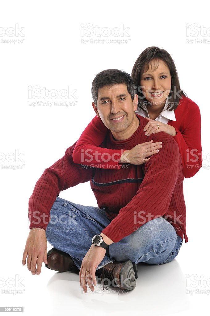 Middle age couple smiling royalty-free stock photo