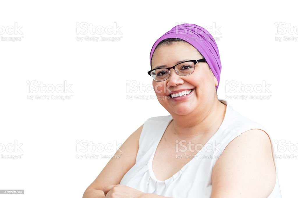 Middle Age Female Coping With Breast Cancer stock photo